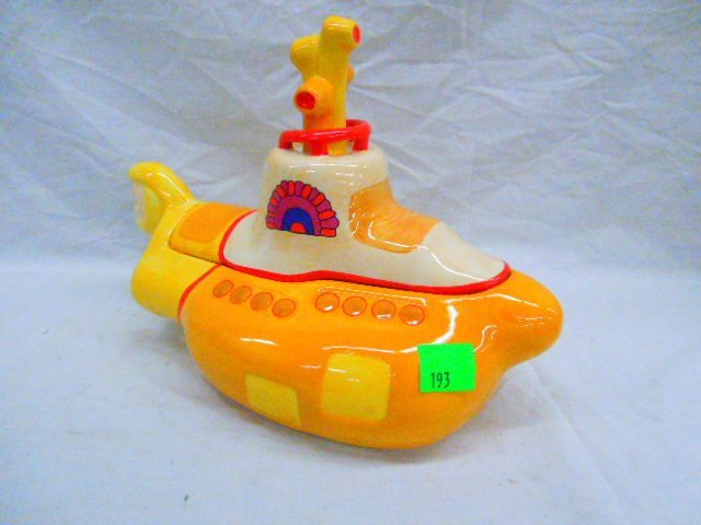 Beatles Yellow Submarine Cookie Jar With Box