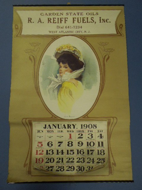 Reproduction 1908 Garden State Oils Calender