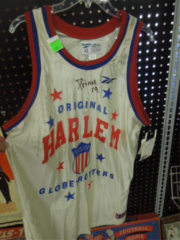 Reebok Signed Harlem Globetrotters Jersey