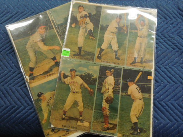 2 Newspaper pages Baseball Players 1946