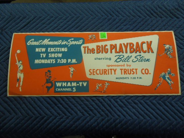 The Big Play Back TV Show Bus Poster 1950's