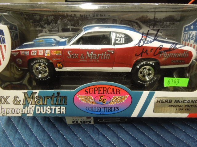 Die Cast Race Car Sox - Martin Plymouth Duster