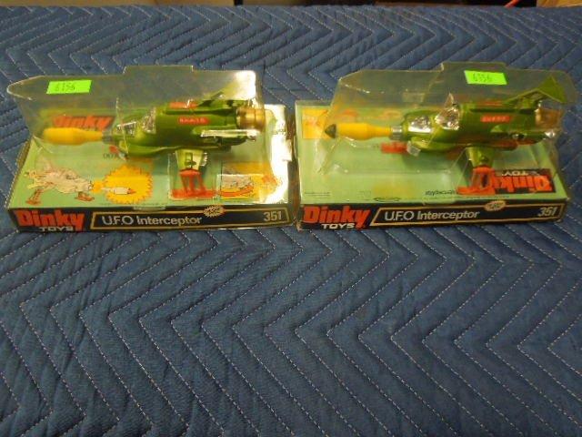 2 Dinky Toys UFO Interceptor in Original Packaging