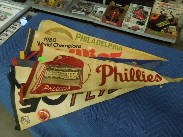 Phillies Flyers Eagles & Other Pennants