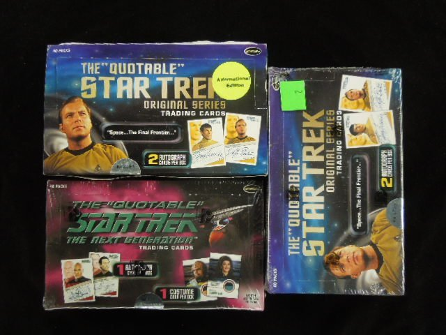 3 Boxes Star Trek Trading Cards