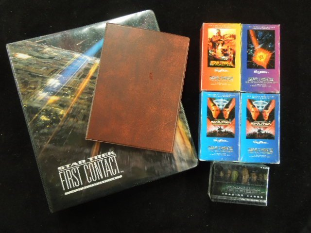 Star Trek Trading Cards, 5 Boxes, 2 Binders