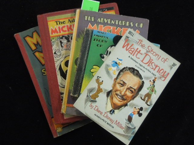 Lot of Mickey Mouse Childrens Books 1930's