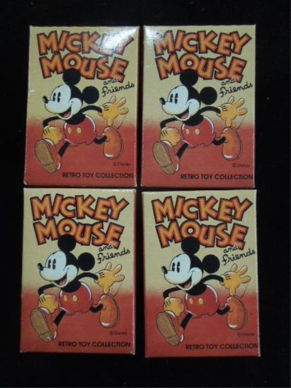 4 Retro Mickey Mouse Wooden Figures
