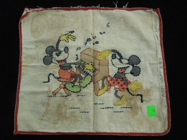 1930's Mickey Mouse Pillow Cover