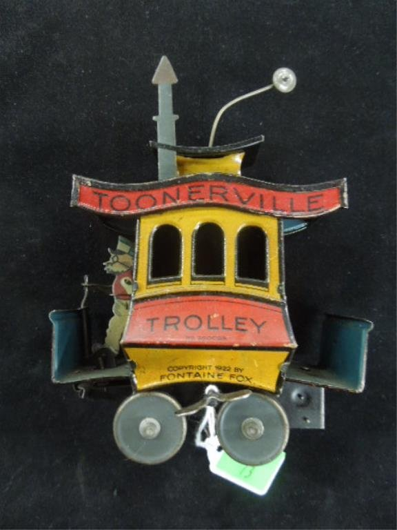 Vintage German Tin Wind up Trolly