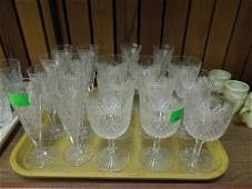 19 Pieces Early 20th C Cut Glass Stemware