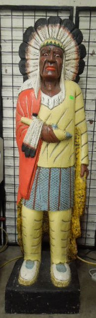 Carved Wood Cigar Store Indian