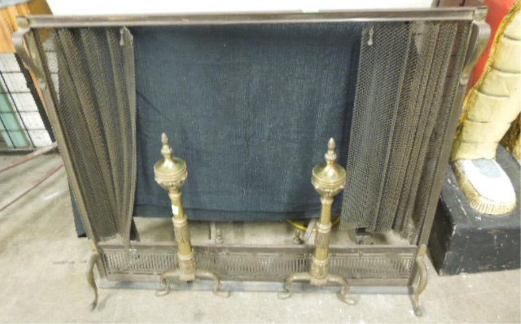 Fireplace Andirons & Screen