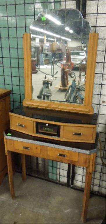 Art Deco Barbers Vanity Cabinet