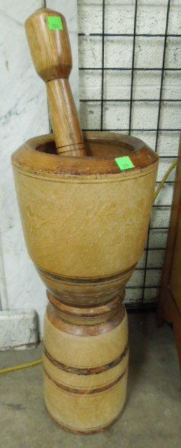 Large Wood Mortar & Pestle