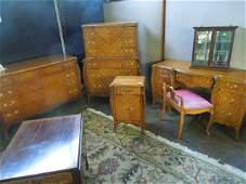 6 Pc Louis XV Style Bedroom Set
