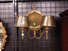 Pr Brass Wall Sconces
