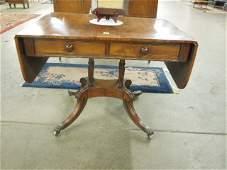 Regency-Style Mahogany Sofa Table