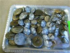 Lot of Vintage Misc. RR Staff Buttons