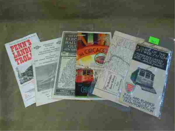 Lot of (6) Vintage Street Railway Brochures