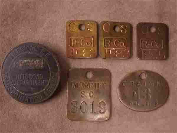 Vintage Lapel Button; Work Tags