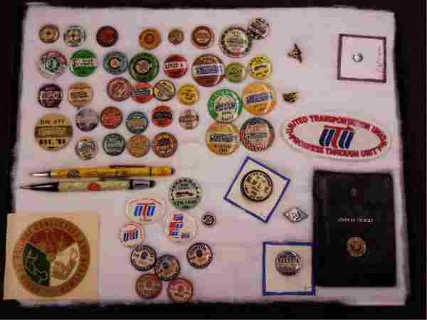 Vintage Street Railway /RR Labor fraternal buttons