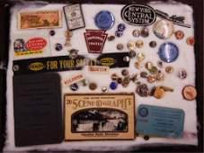 Vintage RR Lapel Buttons; etc.