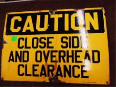 Porcelain Caution Sign