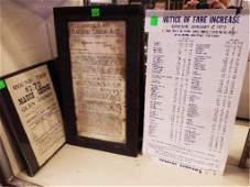 Vintage Reading Railroad Broadsides