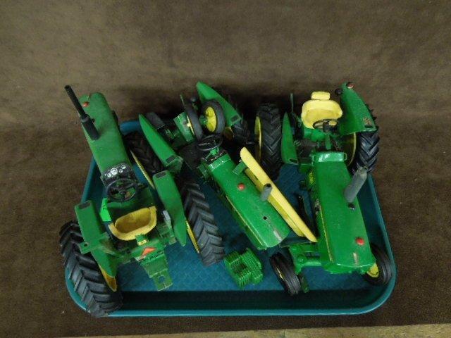 3 John Deere Die Cast Tractors by Ertl