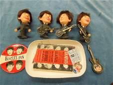 Beatles Fan Club Items Pins Photos Stub