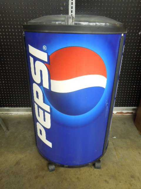 Large Round Pepsi Cooler