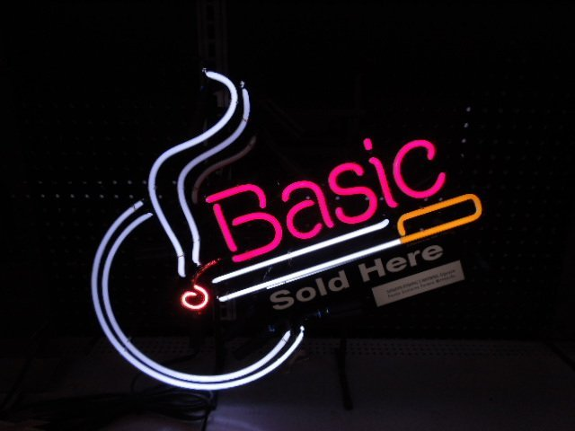 Basic Cigarettes Neon Sign