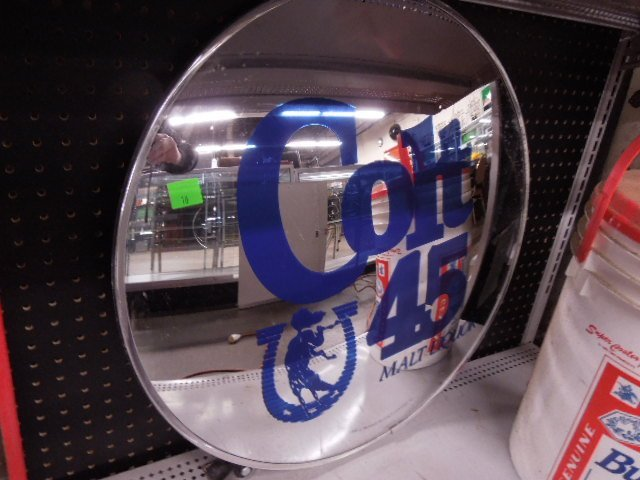 Colt 45 Malt Liquor Mirror w/Mount
