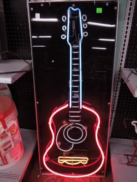 Guitar Form Neon Sign