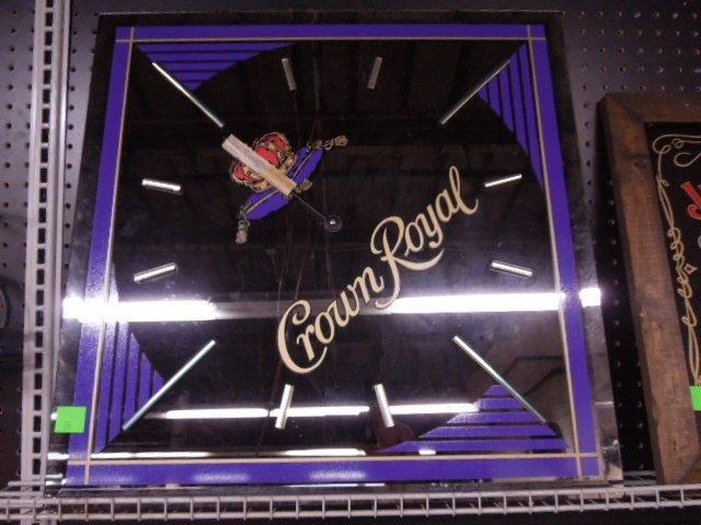 Crown Royal Whiskey Mirror / Clock