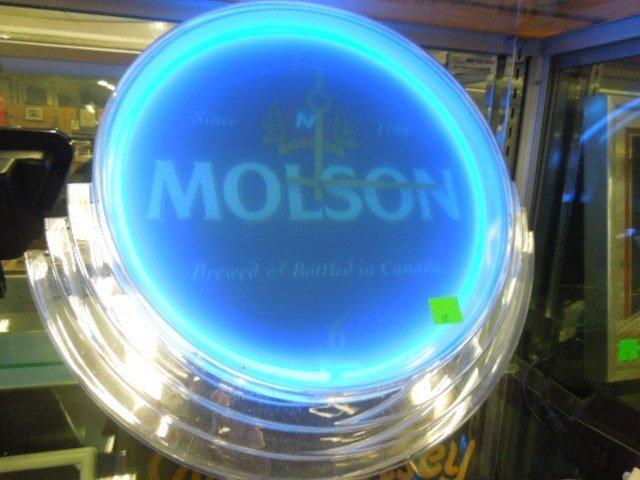 Molson Neon Beer Clock