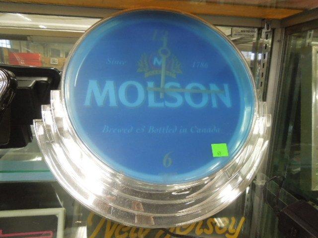 Molson Neon Beer Clock - 2