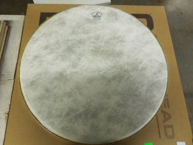 Three Remo Fiberskyn Bass drum heads - 2