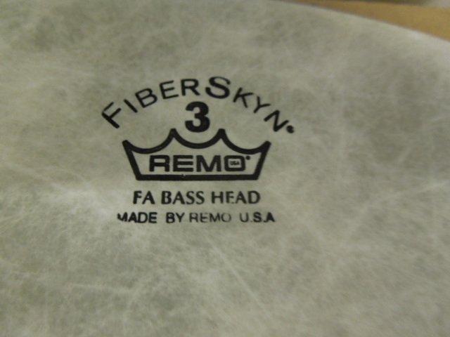 Three Remo Fiberskyn Bass drum heads - 3