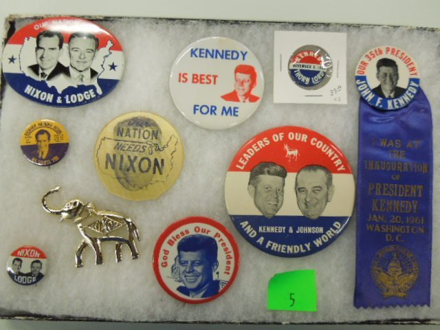 1960 Nixon / Kennedy Campaign Buttons
