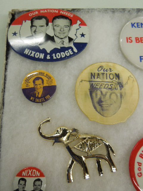 1960 Nixon / Kennedy Campaign Buttons - 2