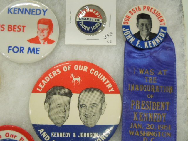 1960 Nixon / Kennedy Campaign Buttons - 3