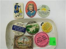 8 Vintage Advertising Pocket Mirrors