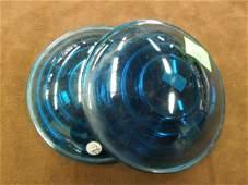 Pr of Vintage Railroad Lantern/Marker Glass Lenses