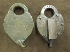 Pr. of Vintage Railroad Locks