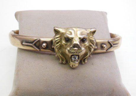 Victorian Lion Bangle Bracelet