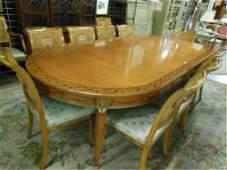 Fine Custom Adam-Style Satinwood Table/Chairs