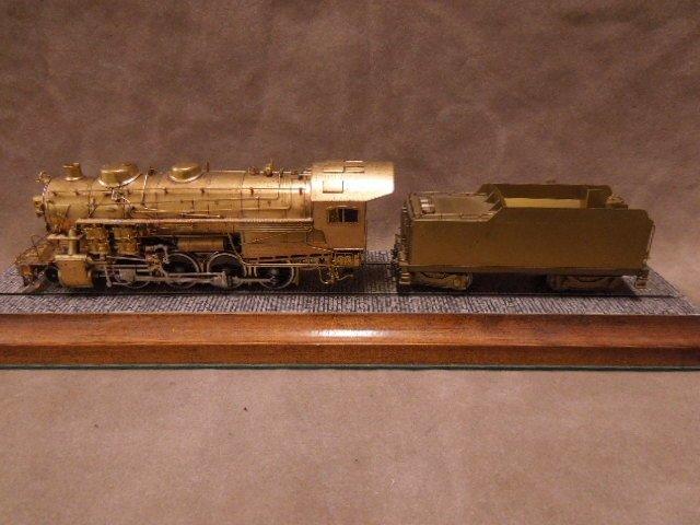Brass HO Scale Locomotive & Tender