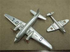 2 Dinky Toy Metal Airplanes
